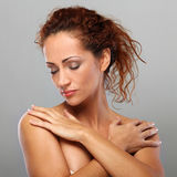 Beautiful natural middle aged woman Royalty Free Stock Photography