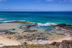Free Beautiful Natural Pools With The Name Champagne Pools, Because Of The Sparkling Waves In The Pools, Fraser Island Australia Royalty Free Stock Photo - 146955615