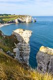 Beautiful natural rock arch, Etretat, Normandy, France. royalty free stock image