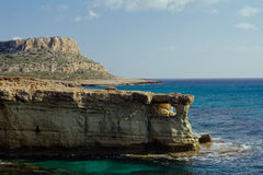 Beautiful natural rock arch near of Ayia Napa, Cavo Greco on Cyprus island Royalty Free Stock Image