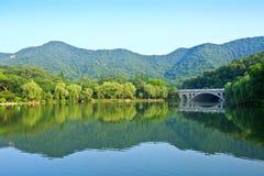 Beautiful natural scenery in hangzhou Stock Photos