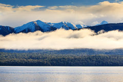 Beautiful natural scenic of lake te anau fiord land national par Royalty Free Stock Image