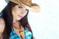Beautiful natural woman Royalty Free Stock Photos