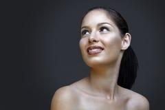 Beautiful natural woman stock photos