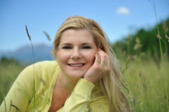 Beautiful natural woman with pure healthy skin Stock Photography