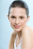 Beautiful Natural Woman. Beautiful young European woman with fresh smooth glowing skin Stock Photography