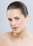 Beautiful Natural Woman. Beautiful young European woman with fresh smooth glowing skin Royalty Free Stock Photography