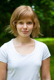 Beautiful, natural young girl Royalty Free Stock Photos