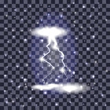 Beautiful Naturalistic Lightning with Transparency Stock Photography