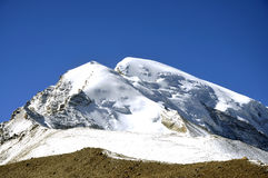 Beautiful nature. Photograph of snow laden peaks, in Sikkim, India showing the beauty of Nature Stock Image