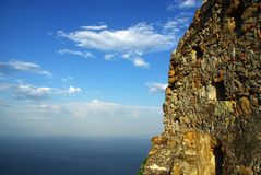 Beautiful nature. Mountain, sky and sea - beauty of nature Royalty Free Stock Photography