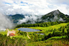 Beautiful nature of Alps mountains Royalty Free Stock Images