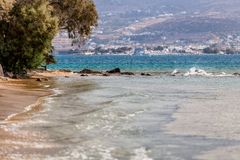 Beautiful nature of Antiparos island of Greece with crystal blue water and amazing views.  stock photos