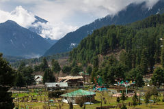 Beautiful nature around a village with Himalaya Mountain Stock Photo