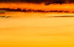 Beautiful nature background - red sunset, bright sun. Scenic vie Stock Photos