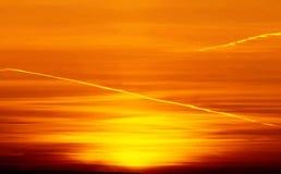 Beautiful nature background - red sunset, bright sun. Scenic vie Royalty Free Stock Photo
