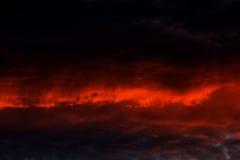 Beautiful nature background - red sunset, bright sun. Scenic Stock Image