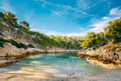Beautiful nature of Calanques on the azure coast of France. Coas Royalty Free Stock Photography