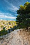Beautiful nature of Calanques on the azure coast of France. Royalty Free Stock Images