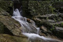 Beautiful in nature cascading water stream at Kanching waterfall Royalty Free Stock Images