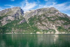 Eidfjord in Norway. Beautiful nature in Eidfjord from Norway Stock Photography