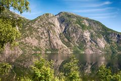 Eidfjord in Norway. Beautiful nature in Eidfjord from Norway Royalty Free Stock Photography