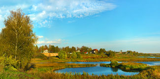 Beautiful nature, fall panoramic scenery royalty free stock photography