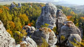 Beautiful Nature Geopark, Bohemian Paradise, Bizarre Rock Town stock image