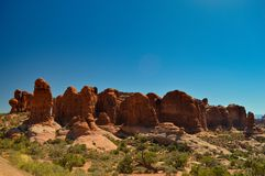 Nature in the Arches national park stock images