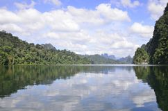 Beautiful nature Island Dam Stock Photo