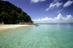 Beautiful nature of Kapas Island, Tropical Beach Malaysia with Blue  Sky and crystal clear sea water Stock Photo