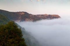Beautiful nature landscape in Crimea. Clouds higher mountain Stock Image