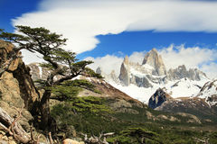 Beautiful nature landscape with Mt. Fitz Roy Stock Image