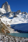 Beautiful nature landscape with Mt. Fitz Roy as seen in Los Glaciares National Park, Patagonia, Argentina.  Stock Image