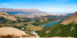 Beautiful nature landscape in Patagonia, Argentina. Beautiful nature landscape panorama in Patagonia, Argentina royalty free stock photos