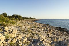 Beautiful nature and landscape photo of coast at Adriatic Sea in Croatia. Beautiful nature and landscape photo of coast at Adriatic Sea in Razanj Croatia.  Nice stock images