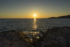Beautiful nature and landscape photo of coast at Adriatic Sea in Croatia. Beautiful nature and landscape photo of coast at Adriatic Sea in Razanj Croatia.  Nice royalty free stock photo