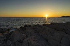 Beautiful nature and landscape photo of coast at Adriatic Sea in Croatia. Beautiful nature and landscape photo of coast at Adriatic Sea in Razanj Croatia.  Nice royalty free stock photography