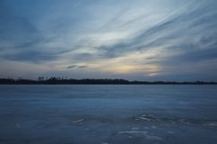 Beautiful nature and landscape photo of spring evening and ice lake in Sweden. Beautiful nature and landscape photo of spring evening in Sweden Scandinavia stock photo