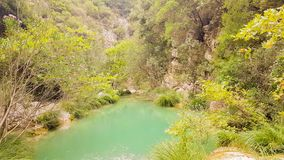 Beautiful nature landscape at Polilimnio in Peloponnese in Greece stock footage