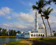 Beautiful nature landscape of Terengganu, Malaysia, Masjid Tengku Tengah Zaharah Muslim Mosque.Image contain grain,noise and soft Stock Images