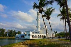 Beautiful nature landscape of Terengganu, Malaysia, Masjid Tengku Tengah Zaharah Muslim Mosque.Image contain grain,noise and soft Stock Photo