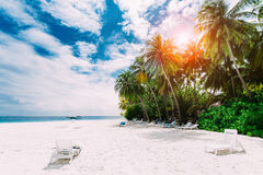 Beautiful nature landscape of tropical island Stock Photos