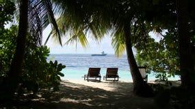 Beautiful nature at the Maldives Stock Image