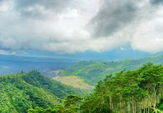 Mount Batur. Active volcano in Bali, Indonesia Royalty Free Stock Image