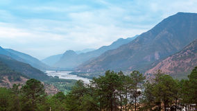 The beautiful nature with mountain and river. (Shangri-La, China Stock Image