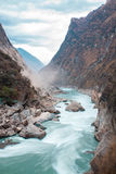 The beautiful nature with mountain and river. (Shangri-La, China Royalty Free Stock Photography