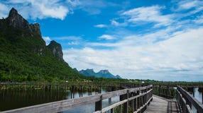 Beautiful nature, mountains in Khao Sam Roi Yot, Prachuap Khiri. Beautiful nature, mountains, sky, and lake, place to travel Khao Sam Roi Yot, Prachuap Khiri Stock Image