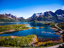 Beautiful Nature Norway aerial photography. Stock Image