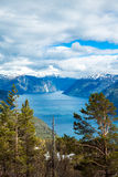 Beautiful Nature Norway - Sognefjorden. Stock Image